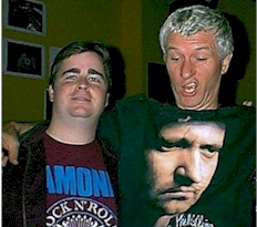 Rich Fisher with Captain Sensible in 1998