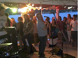 Rich Fisher bringing on a band for the WRNR-FM Rocin' River Cruise