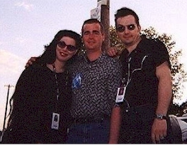 Rich Fisher with Dave Vanian and Patricia Morrison of The Damned in 2003