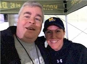 Rich Fisher with WBAL-TV's Jennifer Franciotti in 2017
