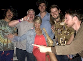 Rich Fisher with Vance Joy and band