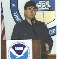 Rich Fisher at at NOAA Press Conference in 1999
