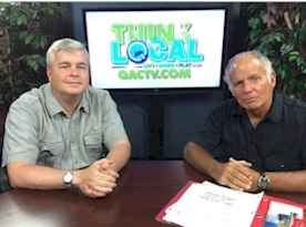Rich Fisher being interviewed on QACTV in 2014