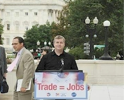 Rich Fisher at a Trade Rally for the Feds in 2004
