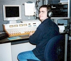 Rich Fisher at WCEI-FM in Easton Maryland in 2001